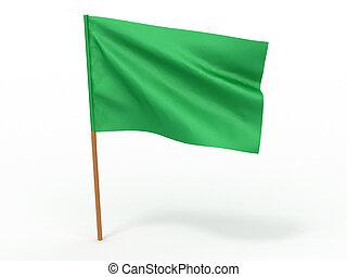 flag fluttering in the wind Libya 3d