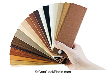 laminate samples - laminate samples in hand isolated on...