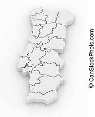 Three-dimensional map of Portugal 3d - Three-dimensional map...