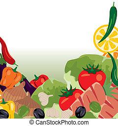 Vegetables frame