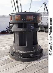 Capstan on Old Frigate - Capstan on the old frigate Jylland...