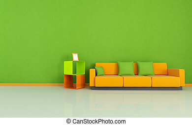 colored living room