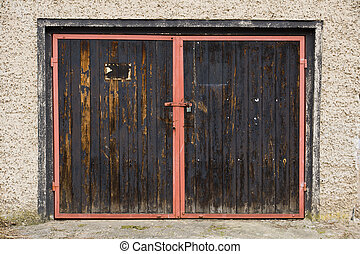 Old garage door in east germany