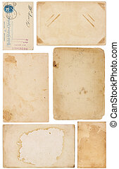 Variety of Vintage Paper Scraps - Collection of six aged,...