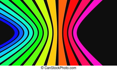 Horizontal rainbow strips 2