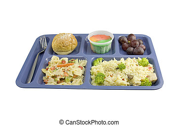 chicken a la king cafeteria style - cafeteria serving of...