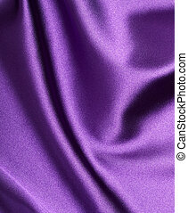 silk satin fabric texture background - close up of purple...
