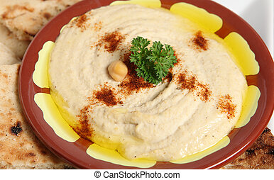 Hummus bi Tahini - The traditional Middle Eastern chickpea...