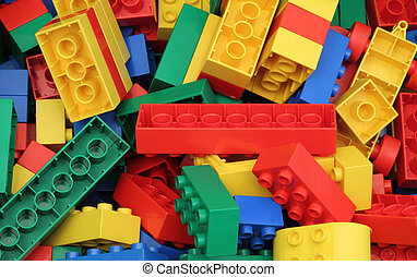 Lego box -  Close up of a lego box