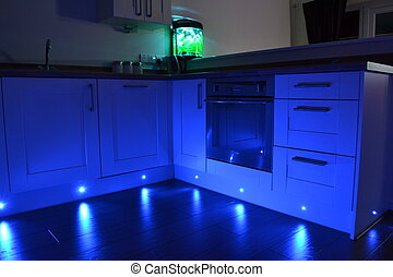 Kitchen spot lights - kitchen blue spot lights