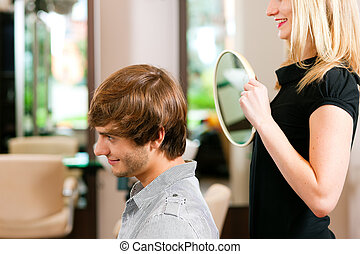 Man at the hairdresser