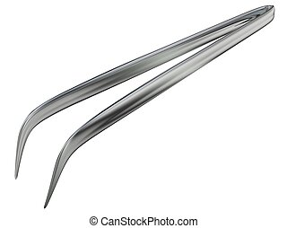 Tweezers - 3d rendered metal medical tweezers