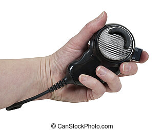 Holding a Microphone - Holding a handheld microphone used to...