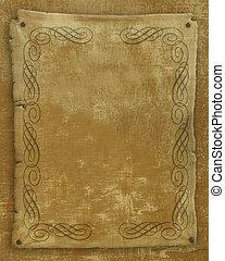 antigas, papel, Pergaminho