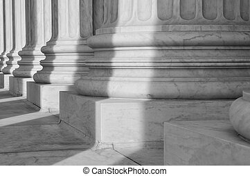 Pillars of Law and Justice located at the Supreme Court of...