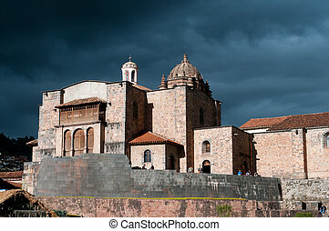 The Coricancha the Cathedral of Santo Domingo - The...