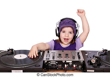 little girl dj fun and play music