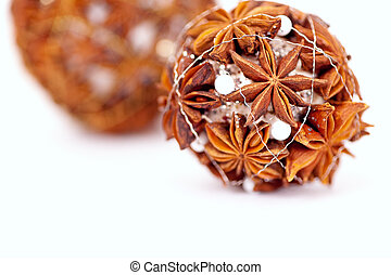 Christmas decoration made of anise
