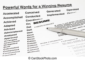Powerful words for winning resume - Powerful words for...
