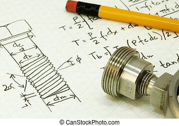 Machine design - Design calculation of bolt thread - many...