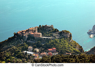 Eze on the French Riviera - Medieval village of Eze on the...