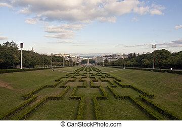 Park Edward 7th - View of the Park Eduardo Sétimo (VII)...