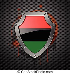 Shield Vector - Shield with the image of a flag of Libya...