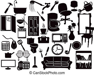Furniture icons - several Furniture icons for design