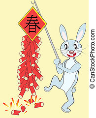 happy chinese rabbit new year