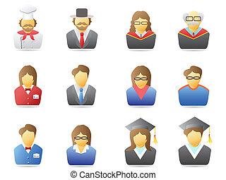 portrait icons set - several portrait icons for web design