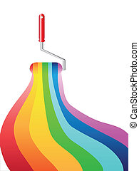rainbow oil painting - the background of rainbow oil...