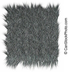 Wolf fur - Wolf skins texture - close-up Fashion element...