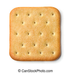 Cracker - Saltine soda cracker isolated on white