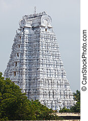 Gopura of Hindu temple - Gopura tower of Sri Ranganathaswamy...