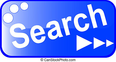 blue search web Button isolated