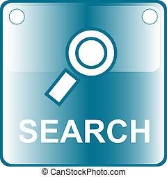 icon blue search web Button - blue icon search web Button...