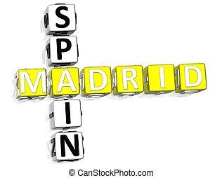 Madrid Spain Crossword