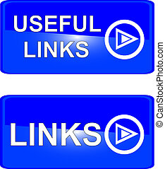 blue web button useful links related information learn more...