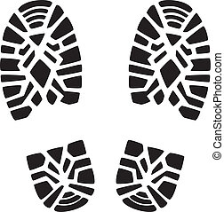 foot prints - vector illustration of man's foot prints