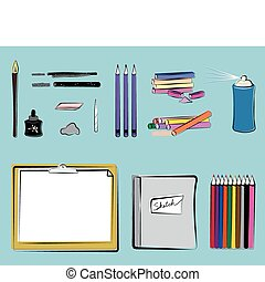 Art Supplies - Drawing - Art supplies for drawing including...