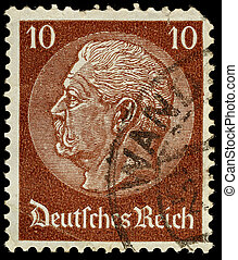 Postage Stamp - GERMANY - CIRCA 1933: A German Used Postage...