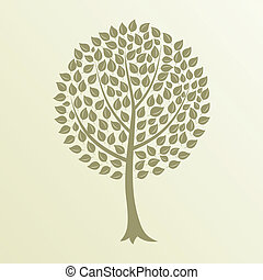 Tree4 - Tree with a roundish crone A vector illustration