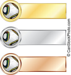 Soccer medals isolated on the white background. Vector.