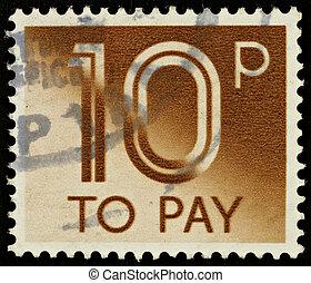 Postage Stamp - UNITED KINGDOM - CIRCA 1982: A British...