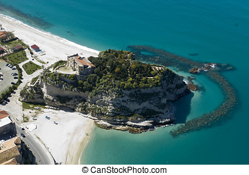 tropea from above, calabria, italy