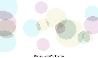 color circle dance,soap bubble