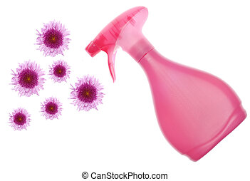 Environmentally Friendly Cleaning Bottle Spraying Flowers -...