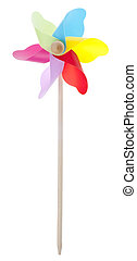 Colorful Pinwheel Isolated on White with a Clipping Path