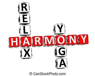 Harmony Relax Yoga Crossword