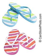 Pair of Colorful Flip Flop Sandals